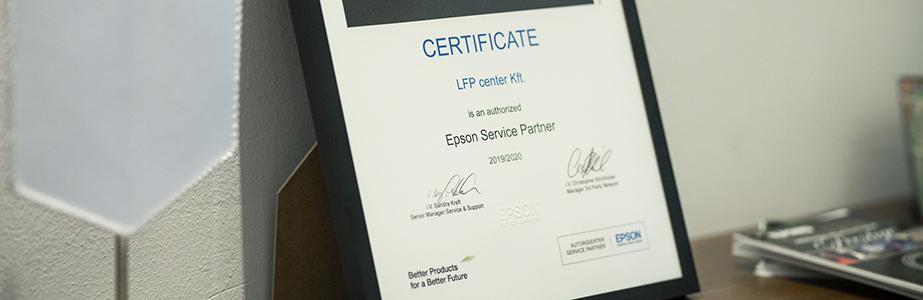 Az LFP center Kft az EPSON kiemelt partnere